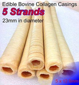 5X saucisse comestible de veau Collagène boîtiers 23mm de diamètre Longueur totale 5x 12.5m de la marque devro image 0 produit