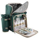 Anndora Sac à dos Sac à dos Sac de randonnée pique-nique + accessoires 29pièces–Coloris au choix de la marque ANNDORA image 4 produit