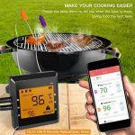 Antennes viande Thermomètre numérique avec sonde de température, Bluetooth Barbecue Thermomètre de la marque ICOCO image 3 produit