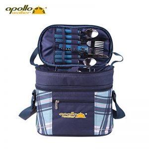Apollo Walker Sac à dos de pique-nique d' pour 2 personnes parfaites pour le camping imperméable (27.5 * 16.5 * 25cm, bleu) de la marque Salasinger image 0 produit