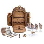 Apollowalker Sac à dos de pique-nique pour sac à dos de pique-nique, 4 personnes, avec vaisselle et couverture de la marque Apollowalker image 3 produit