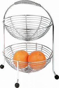 APS - Présentoir de cuisine à étages - poignée ergonomique/pieds antidérapants noirs - métal chromé - env. 30 x 30 cm, H 35,5 cm de la marque APS image 0 produit