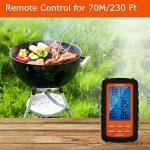 Aramox Thermomètre de Cuisine Numérique Thermomètres à Cuisson Barbecue Thermomètre Numérique avec Télécommande Sans Fil pour Griller Barbecue Alimentaire BBQ jusqu'à 70 Mètres de la marque Aramox image 1 produit