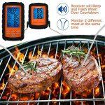 Aramox Thermomètre de Cuisine Numérique Thermomètres à Cuisson Barbecue Thermomètre Numérique avec Télécommande Sans Fil pour Griller Barbecue Alimentaire BBQ jusqu'à 70 Mètres de la marque Aramox image 2 produit