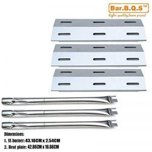 Bar. B.q.s Grill à gaz barbecue Reparts kit de remplacement pour Ducane 30400040, 3200,3400Grill modèles Lot de 3brûleurs en acier inoxydable et acier inoxydable Lot de 3plaques de chaleur de la marque Bar.B.Q.S image 0 produit