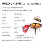 Barbecue au charbon de bois Barbecue de camping portable de style BBQ Ø 36cm Rouge + 1paquet de allumettes XL de la marque BBQ Collection image 2 produit