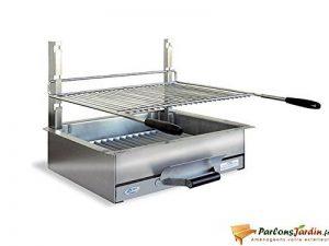 Barbecue à charbon de bois à poser en inox Bézieux de la marque Delta image 0 produit