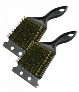 Barbecue en poils de brosse en laiton avec grattoir en métal Lot de 2 de la marque Kingfisher image 0 produit