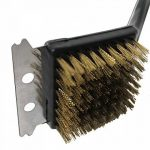Barbecue en poils de brosse en laiton avec grattoir en métal Lot de 2 de la marque Kingfisher image 4 produit