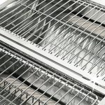 Barbecue portable double plaque grill - acier inoxydable - poignée ventilation de la marque Deuba image 1 produit