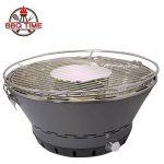 BBQ Time. L'Original Barbecue à charbon sans fumée. L'unique avec le système breveté de recirculation de l'air. Grill rond grille de table Four Ventilé–Inclut Sac de transport gratuit inclus dans la boîte. Portable utilisable avec charbon, charbon e image 1 produit