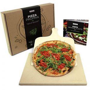 #benehacks Pierre à pizza pour four & Grill – Pâte à Pizza, Pain et Gâteaux – Kit avec Pierre, Livre de Recettes à Pizzas et Pelle à Pizza de la marque #benehacks image 0 produit