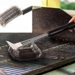 Brosse de barbecue, amélioré 3 en 1 fil d'acier inoxydable avec grattoir 360 ° Retirez fortement les taches d'huile et de la nourriture carbonisée, le choix des amateurs de barbecue de la marque Sparkle Flyer image 4 produit
