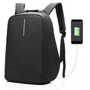 CoolBELL Sac à dos d'ordinateur portable de 15.6 pouces avec Port USB de charge/Sac anti-vol Léger de Ville /Sac à dos fonctionnel Knapsack Backpack /sac à dos Imperméable pour Hommes/Femmes (Noir) de la marque Coolbell image 0 produit
