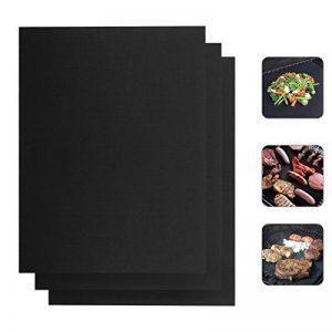 Ecbrt Tapis de grille pour barbecue, Lot de 3tapis de cuisson anti-adhésif et grill Feuilles pour griller la viande, légumes, fruits de mer–réutilisable, résistant à la chaleur, très résistant et facile à nettoyer, 33*40cm de la marque Ecbrt image 0 produit