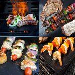 Fivefire Tapis de grille pour barbecue Lot de 5–four antiadhésive Revêtement en Téflon Tapis de cuisson–Parfait pour la cuisson au gaz, Charbon de bois, four électrique et grilles–réutilisable, durable, résistant à la chaleur barbecue Feuilles pour image 3 produit