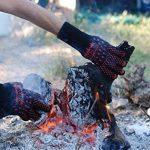 Gants pour BBQ ArmorGlove – 500C kevlar noir tissé haute température avec doublure en coton et manche longue ! Prises résistantes à la chaleur pour la cuisson, le barbecue, le charbon de bois. (Grand) de la marque Premiala image 4 produit