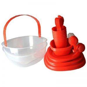 GMMH couleur rouge pique-nique - 48 pièces de vaisselle de camping picnics4fun kit panier pour 6 personnes 48 pièces de la marque GMMH image 0 produit