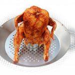 Gourmet BBQ Système Support de Volaille Poulet Griller & légumes Wok Plat de la marque HeRo24 image 2 produit