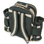 Greenfield Collection - Sac à dos de pique-nique Super Deluxe pour 4 personnes en Vert Forêt de la marque Greenfield Collection image 4 produit