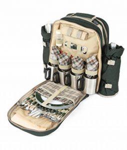 Greenfield Collection - Sac à dos de pique-nique Super Deluxe pour 4 personnes en Vert Forêt de la marque Greenfield Collection image 0 produit