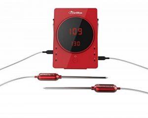 GrillEye GE0002Sonde professionnelle de cuisine, en aluminium - Rouge Thermomètre rouge de la marque GrillEye image 0 produit