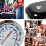 Home Tools. UE–Résistant à la température analogique Barbecue Thermomètre de cuisine | pour barbecue fumoir pour barbecue Casseroles Cocotte–10°C–350°C–Film de Ø 5cm, Ø 8mm alésage de la marque HomeTools.eu image 2 produit