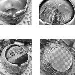 HUACANG Cendrier de couverture rotative coupe-vent, cendrier sphérique en métal vintage, cendrier de pharaon de style égyptien antique Cendrier de décoration de bureau à domicile (Couleur : G) de la marque HUACANG image 2 produit