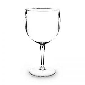 Incassable Gin Tonic Verres Ballons Cocktail | Ensemble De 6 | Haute Qualité Incassable Réutilisable Verres | Lave-Vaisselle | Polycarbonate Plastique | Pour La Fête, Piscine, Plage, Pique-Nique, Camping, Barbecue, Cocktail | 47cl de la marque RBSTORE image 0 produit