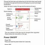 Inkbird Bluetooth 4.0 Thermometre Sans Fil avec Sonde Acier Inoxydable, Barbecue Electrique Four / Confiture / Fumoir Viande et Poisson Mini Cuisine Temperature Monitor & Alarme Fonction,Thermomètre Exterieur pour Android&iOs(Thermometre+2 Sonde) de la ma image 4 produit