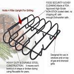 KALREDE Spare Ribs et à rôti Rack,BBQ Accessoires,25 x 29 x 7,5cm de la marque KALREDE image 3 produit