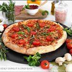 Kenley Noir ensemble de pierre à pizza pour cuisson et cuisson à pizza et à pain dans le four, grill ou barbecue–Pierre ronde 38,1cm avec roulette à pizza–Large Plat en céramique Poêle cuisson de pizza Uniformément et donne une croûte croustillante d image 3 produit