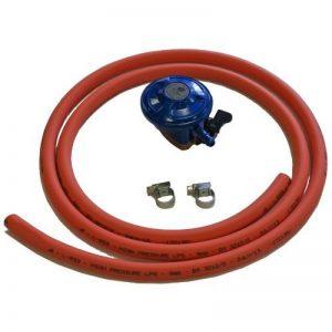 Kit détendeur à gaz butane tuyau et colliers de serrage 28 mbar (avec clip) de la marque Continental image 0 produit