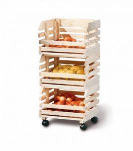 Links 60100400 - Etagère Cagettes en Bois empilables pour fruits - 30 x 37 x 80 cm de la marque Links image 0 produit