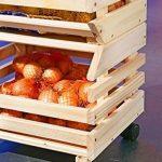 Links 60100400 - Etagère Cagettes en Bois empilables pour fruits - 30 x 37 x 80 cm de la marque Links image 3 produit