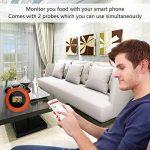 Lnkey Bluetooth Sans Fil Thermomètre avec 2 Sonde, Thermomètres pour barbecue appli viande Thermomètre Four, BBQ, Cuisine Cuisson Viande rôti pour Android + iOS de la marque Lnkey image 2 produit