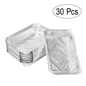Lot de 30barquettes jetables Bestomz, en aluminium, pour cuisson au barbecue - 570ml de la marque BESTOMZ image 0 produit