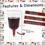 Lot de 48 verres à vin jetables en plastique transparent - Idéal pour les fêtes de Noël - Parfait pour la restauration lors d'activités et d'événements de plein air de la marque Matana image 1 produit
