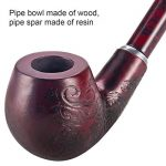 LUWANZ Pipe à Tabac en Bois Pipe de Tabac Longue Fumer Pipe 41cm Sculpté avec des Motifs + Boîte Cadeau Noir de la marque LUWANZ image 1 produit