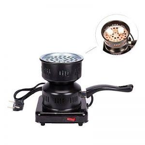 MERITON 600W Heat Up électrique Grill Briquet Allume Réchaud pour ShiSha Chicha Narguilé Barbecue BBQ(Noir) de la marque MERITON image 0 produit