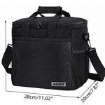 MIER 15L Grand sac à lunch isotherme pique-nique sac pour les hommes et les femmes (noir) de la marque MIER image 2 produit
