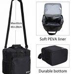 MIER 15L Grand sac à lunch isotherme pique-nique sac pour les hommes et les femmes (noir) de la marque MIER image 4 produit