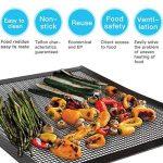 Mojidecor Tapis de grille pour barbecue (lot de 3) pour griller et cuisson, grill & Tapis de cuisson antiadhésif, barbecue et tapis de cuisson réutilisable sans PFOA, griller en maille résistant à la chaleur jusqu'à 500F (260℃)–idéal pour gaz de charb image 1 produit