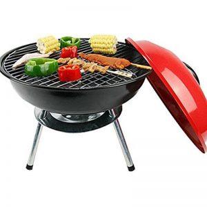 Nclon Charbon de bois Sans fumée Barbecue Bouilloire mini barbecue,Bbq Silencieux Portable Barbecue à charbon Grill Plein air Camping Jardin Plage Pique-nique 3-5 People-rouge 35x35cm(14x14inch) de la marque Nclon image 0 produit