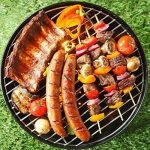 Nclon Charbon de bois Sans fumée Barbecue Bouilloire mini barbecue,Bbq Silencieux Portable Barbecue à charbon Grill Plein air Camping Jardin Plage Pique-nique 3-5 People-rouge 35x35cm(14x14inch) de la marque Nclon image 2 produit