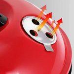 Nclon Charbon de bois Sans fumée Barbecue Bouilloire mini barbecue,Bbq Silencieux Portable Barbecue à charbon Grill Plein air Camping Jardin Plage Pique-nique 3-5 People-rouge 35x35cm(14x14inch) de la marque Nclon image 3 produit