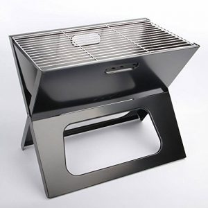 Nclon Pliable pour Portable Charbon de bois Barbecue à charbon,Fumeur Bbq Barbecue Acier inoxydable Plein air Camping Pique-nique Jardin Plein air Plage 3-5 People-De l'argent 48*32*39cm de la marque Nclon image 0 produit