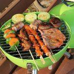 Nclon Portable Charbon de bois Sans fumée Bouilloire mini barbecue,Barbecue Barbecue à charbon Bbq Rond Mini Plein air Camping Pique-nique Jardin Plage 3-4 People-vert 31*41cm de la marque Nclon image 4 produit