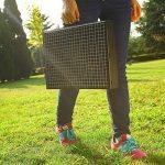 Nclon Portable Pliable pour Barbecue Barbecue à charbon,Bois carbone Bbq Grill Mini Fumeur Ménage Grill Sauvage Plein air Camping Jardin 3-5 People Noir-Grand 43*29*22cm de la marque Nclon image 6 produit
