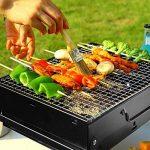 Nclon Portable Pliable pour Barbecue Barbecue à charbon,Bois carbone Bbq Grill Mini Fumeur Ménage Grill Sauvage Plein air Camping Jardin 3-5 People Noir-Grand 43*29*22cm de la marque Nclon image 3 produit